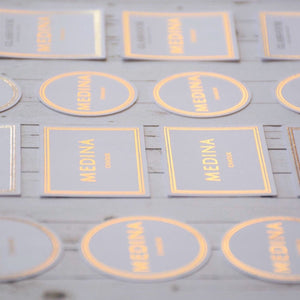 Personalised Round Foiled Gift Tag (160 gsm)