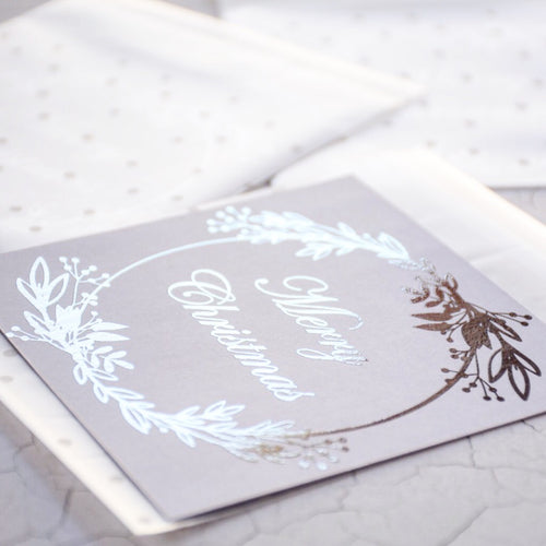 Personalised Foiled Christmas card