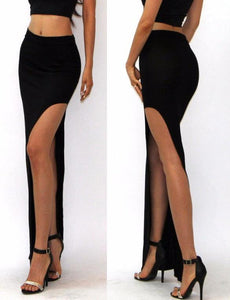 Tight Thigh High Slit Pencil Skirt