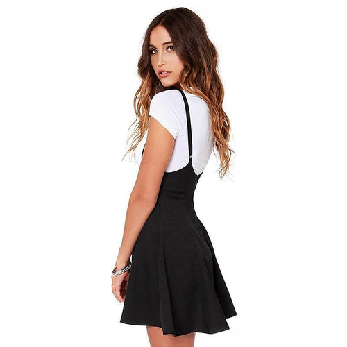 Strappy Black Skater Skirt