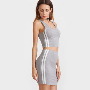 Heather Gray Track Two-Piece Set