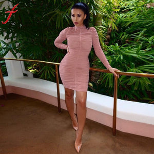 Sexy Women Long Sleeve Cocktail Party Dress
