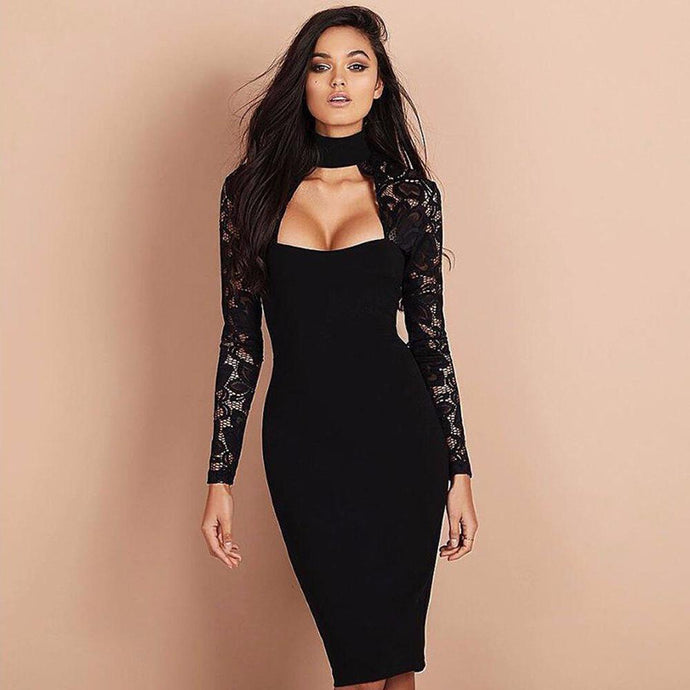 Bodycon Choker Cocktail Dress