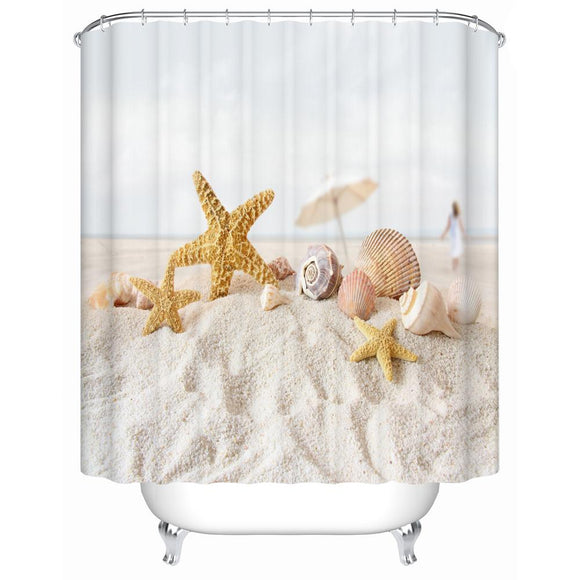 Starfish on The Beach Shower Curtains