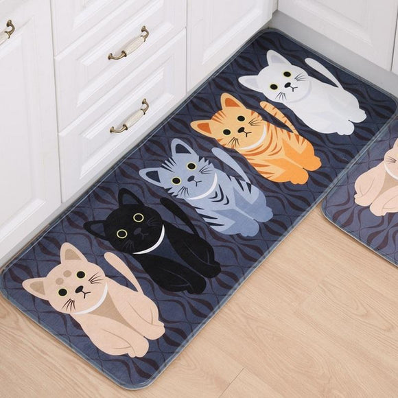 Hallway Welcome Floor Mats Animal Cute Cat Print -www.greatdailybargains.com/