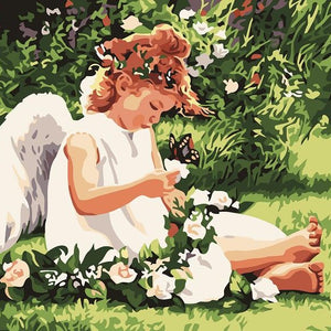 Paint By Numbers-Angel in the Garden