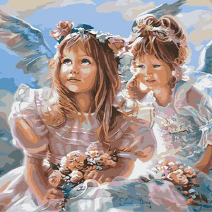 Paint By Numbers- Angel Sister's
