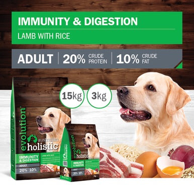 Immunity & Digestion Holistic Lamb with Rice Dry Dog Food