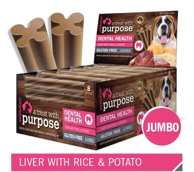 Liver with Rice & Potato Dental Stick Jumbo