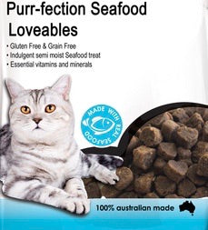 Purr-fection Seafood Loveables Cat Treats 80g