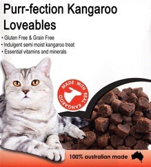 Purr-fection Kangaroo Loveables Cat Treats 80g