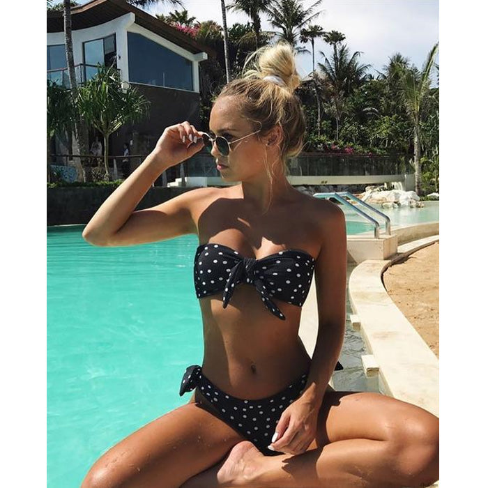 Sexy Two pieces Striped Swimsuit 2018 New Sport Bikini Set Swimwear new Bikinis Women Bathing Suit With Padded Biquini