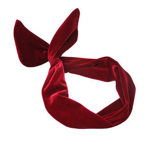Velvet Dolly Bow Headband for that Finished Pin-Up Style