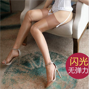 Retro Pure Nylon Thigh High Stockings