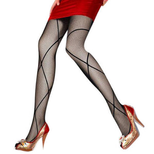 Vintage Fishnet Carved Pantyhose