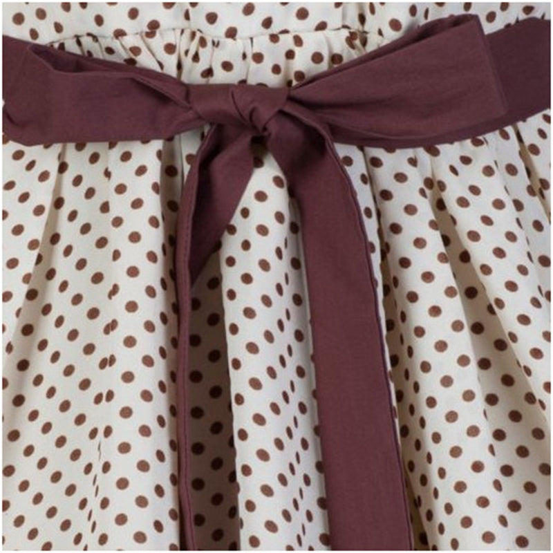 1950s Audrey Hepburn Rockabilly Polka Dot Dress
