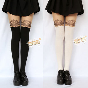 Cute Pantyhose Striped Patchwork Stockings
