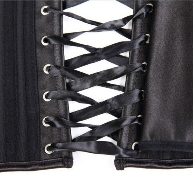 Double Steel Boned Vintage Underbust Corset Heavy Duty Slimming Shaper