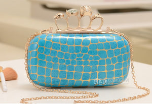 Women's Rockabilly Diamond Ring Clutch Vintage Evening Bag