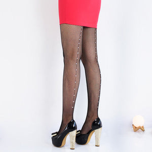 Vintage Fishnet Diamonds Stockings