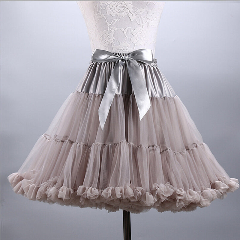 Womens Vintage Mini Tulle Puffy Petticoat Rockabilly Style Underskirt