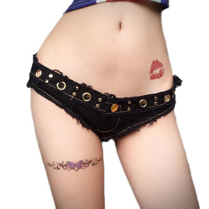 Rockabilly Style Denim Booty Short