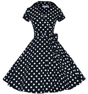 Womens Vintage Retro Rockabilly Pinup Polka Dot Dress 50s Party Dress