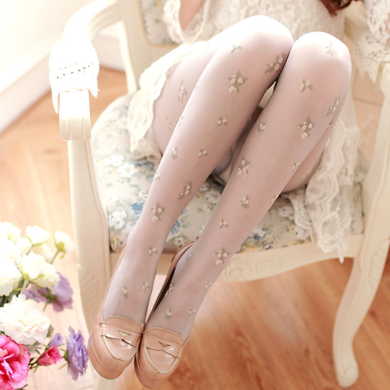 Lace Patchwork Tattoo Tights