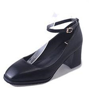 Square Toe Thick Heel Vintage Shoes