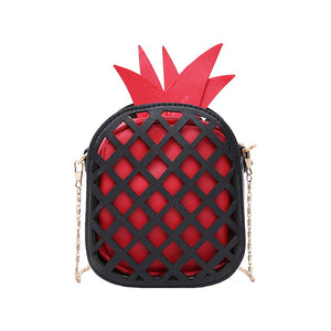 Cute Pineapple Print Womens Chain Handbag Purse