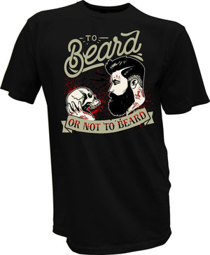Beard Skull Barber Biker Retro  Barbershop Men's Tees