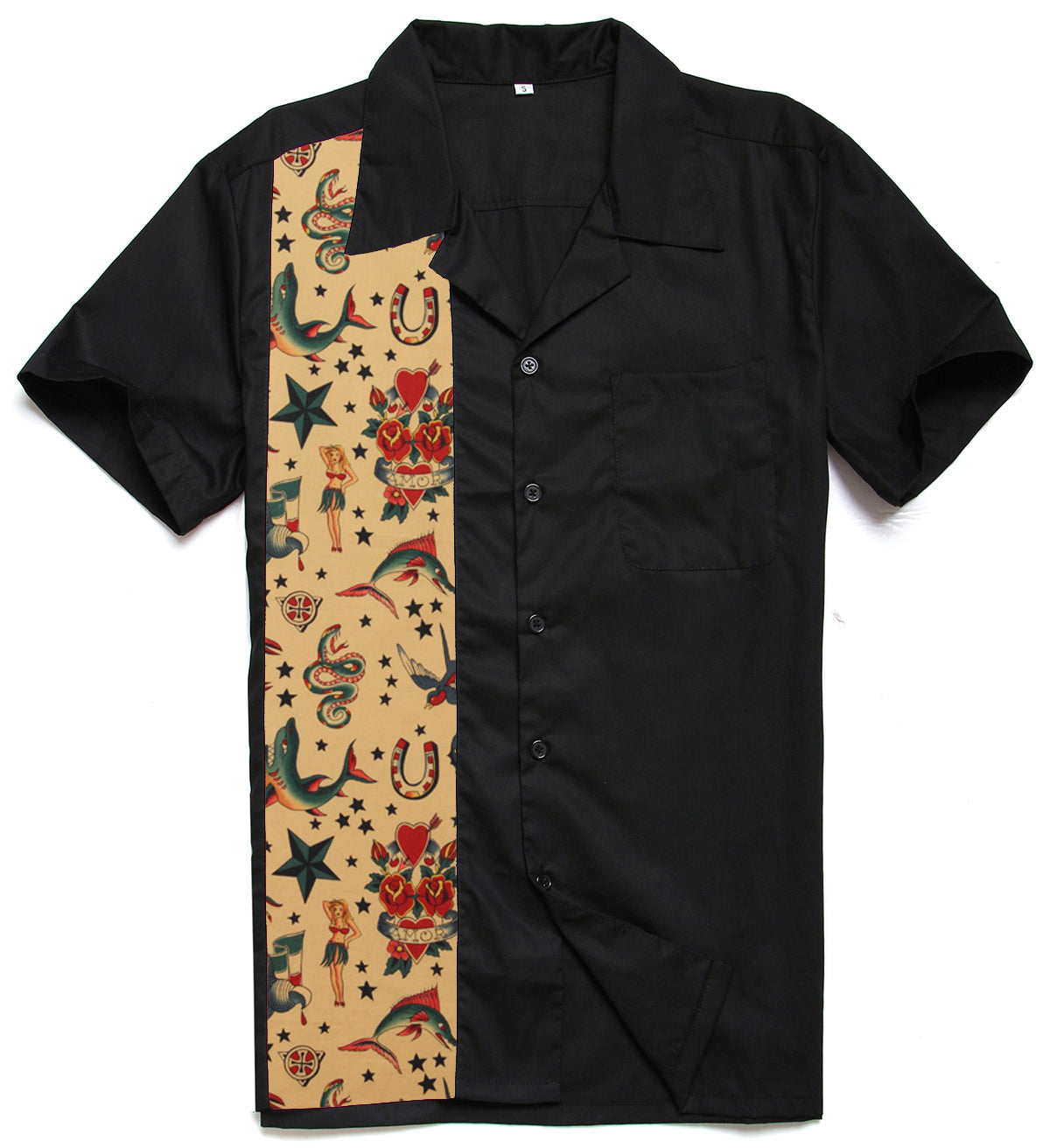 Mens Rockabilly Multi-Pattern Vintage 40s Shirt