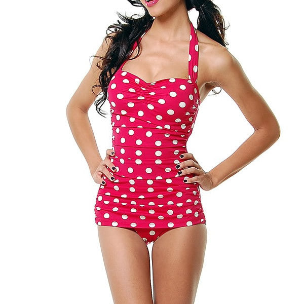 One Piece Pin Up Dots Swimsuit