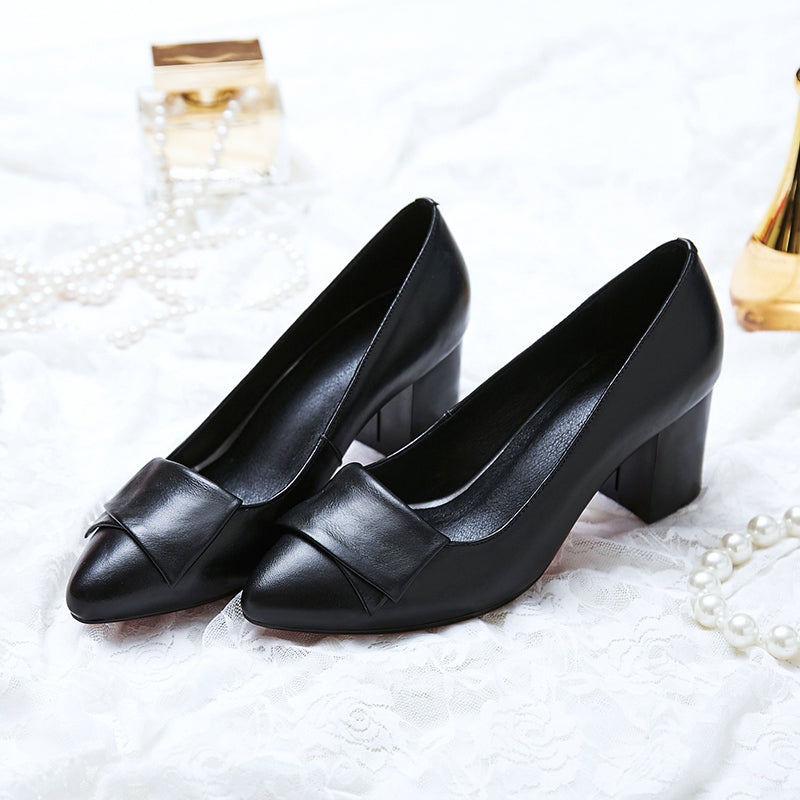 Vintage Leather Retro Square Shoes