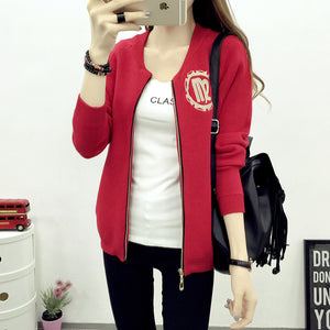 Baseball Uniform Inspired Knitted Cardigan