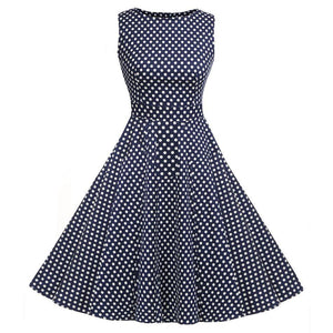 Vintage Swing Dress Women 1950S 60S Retro Picnic Dresses Cocktail