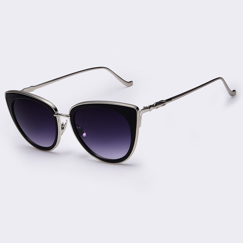 Metal Frame Cat Eye Women Sunglasses