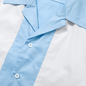 Men's Rockabilly Vintage Style Light Blue Short Sleeve Shirts