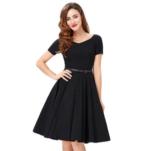 Audrey Hepburn Style Pin Up Rockabilly 1950s Vintage Style Womens Dress