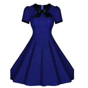 1940s Retro Rockabilly Swing Dress with Bow