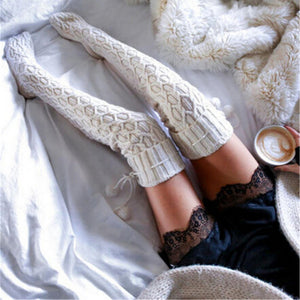 Vintage Knitted Knee Socks