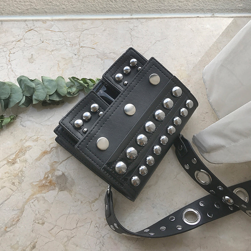 Rivets Square Shoulder Messenger Bag