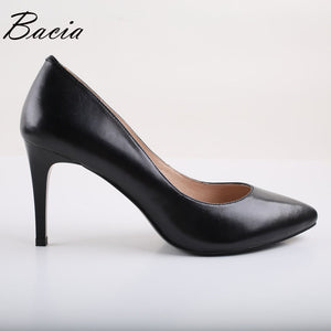 Vintage Black Pointed Toe High Heels