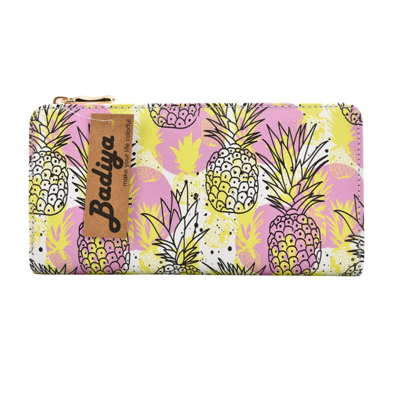 Womens Pineapple Fruit Print Wallet