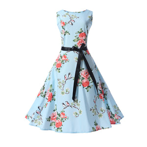 Audrey Hepburn 1950s Vintage Women's Dresses Rockabilly Party Dress