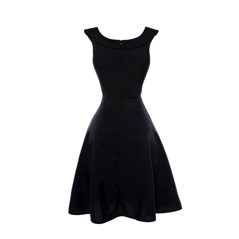 Audrey Hepburn Black Women's Dress Vintage Retro Rockabilly Dress