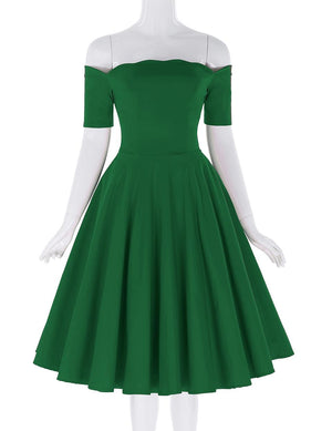 Sexy Retro Short Sleeve Swing Party Dress