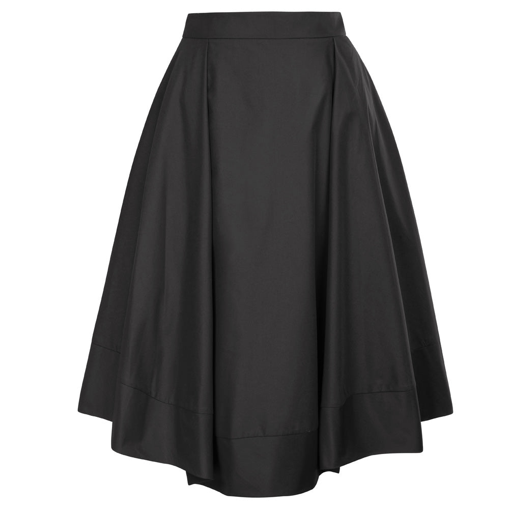 Vintage Mid Calf A-Line Pleated Skirt