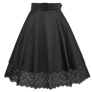 1960s Pleated Rockabilly Pinup Skirt