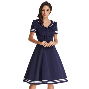 Preppy Retro Sailor Dress